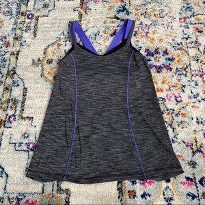 Lululemon criss cross tank purple heather gray